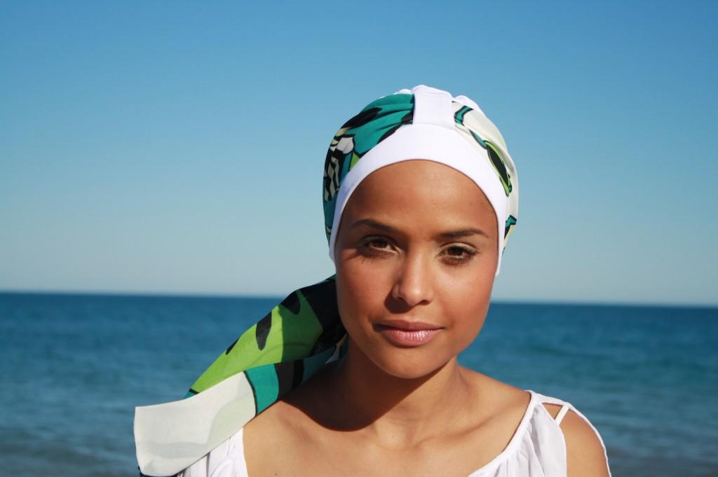 turbante gorro esmeralda